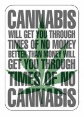 Aufkleberset Cannabis