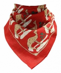 Bandana Kopftuch Kamelkarawane in Rot