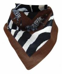 Bandana Halstuch Zebra in Braun