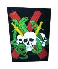 Snake & Skull Rückenaufnäher