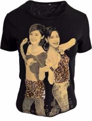 Tshirt mit Frauen Aufdruck