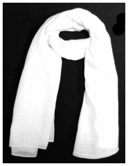 Cotton Scarf White