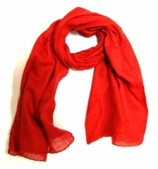 Cotton Scarf Red
