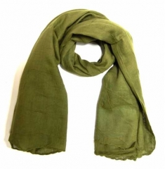 Cotton Scarf Olive Green