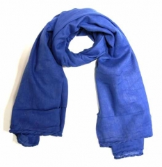 Cotton Scarf Dark Blue