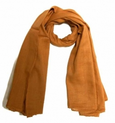 Cotton Scarf Caramel Brown