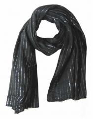 Baumwolle Polyester Tuch Schwarz & Silber