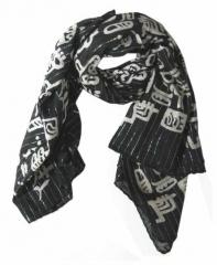 Baumwolle Polyester Tuch Schwarz & Weiß