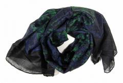 Bedrucktes Halstuch Indisches Muster Blau