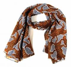 Bedrucktes Halstuch Brauner Leopard