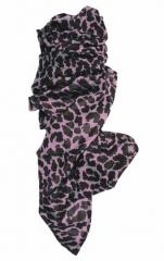 Bedrucktes Halstuch Leopardenmuster Lila