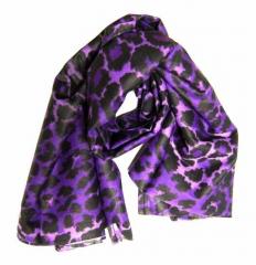 Bedrucktes Halstuch Leopardenmuster Lila | 090
