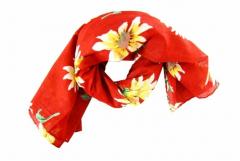 Bedrucktes Halstuch Rotes Blumenmuster