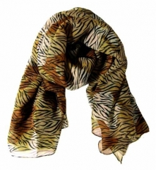 Bedrucktes Polyestertuch Tiger Muster