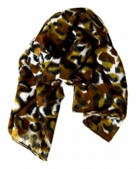 Bedrucktes Polyestertuch Leopard Muster