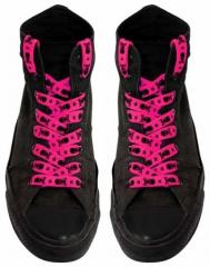 Schnürsenkel - Pink Totenköpfe