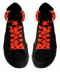 Shoe Laces - Card Symbols (Neon Orange)