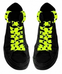 Shoe Laces - Card Symbols (Neon Yellow)