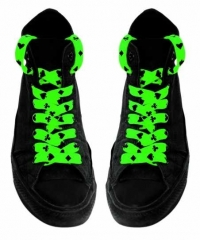 Shoe Laces - Card Symbols (Neon Green)