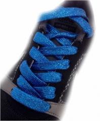 Schnürsenkel Glitzereffekt Blau