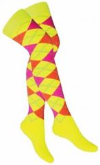 Over Knee Thigh Socks Multi Colour Squares
