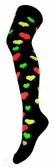 Over Knee Thigh Socks Multicolour Hearts