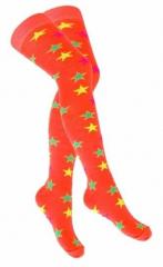 Over Knee Strümpfe Orange Mehrfarbige Sterne