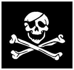 Aufnäher Flag Skull & Crossbones