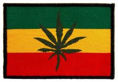 Aufnäher Flag Rasta Leaf