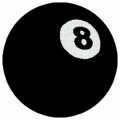 Aufnäher 8 Ball