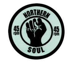 Aufnäher Northern Soul 45Rpm