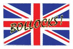 Aufnäher Union Jack Bollocks!