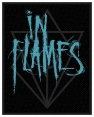 Aufnäher In Flames Scratched Logo