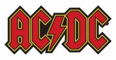 Aufnäher AC/DC Red Logo Cutout