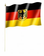 Deutschland Adler Stockfahnen