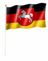 Niedersachsen Stockfahnen
