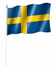 Schweden Stockfahnen