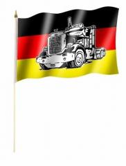 Deutschland LKW Stockfahnen