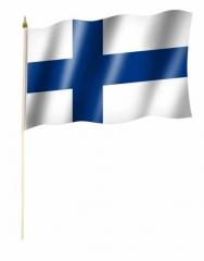 Finnland Stockfahnen