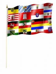 16 Bundesländer Stockfahnen
