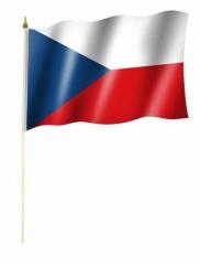 Tschechische Republik Stockfahnen