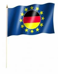 Deutschland Europa Stockfahnen