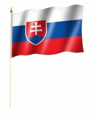 Slowakei Stockfahnen