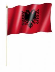 Albanien Stockfahnen
