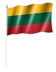 Litauen Stockfahnen