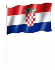 Kroatien Stockfahnen