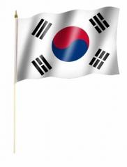 Südkorea Stockfahnen