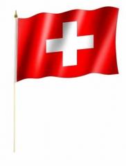 Schweiz Stockfahnen