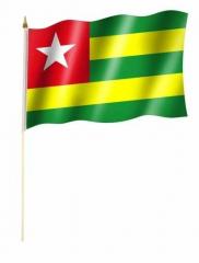 Togo Stockfahnen