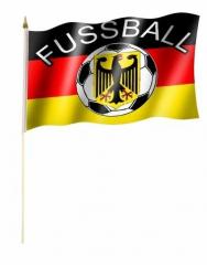Deutschland Fussball Stockfahnen